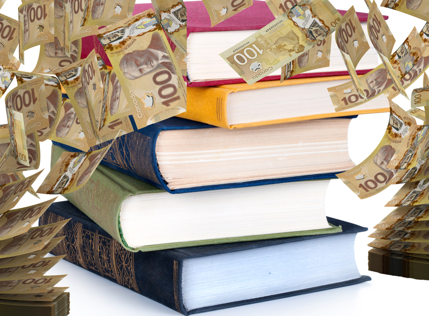 books-with-money