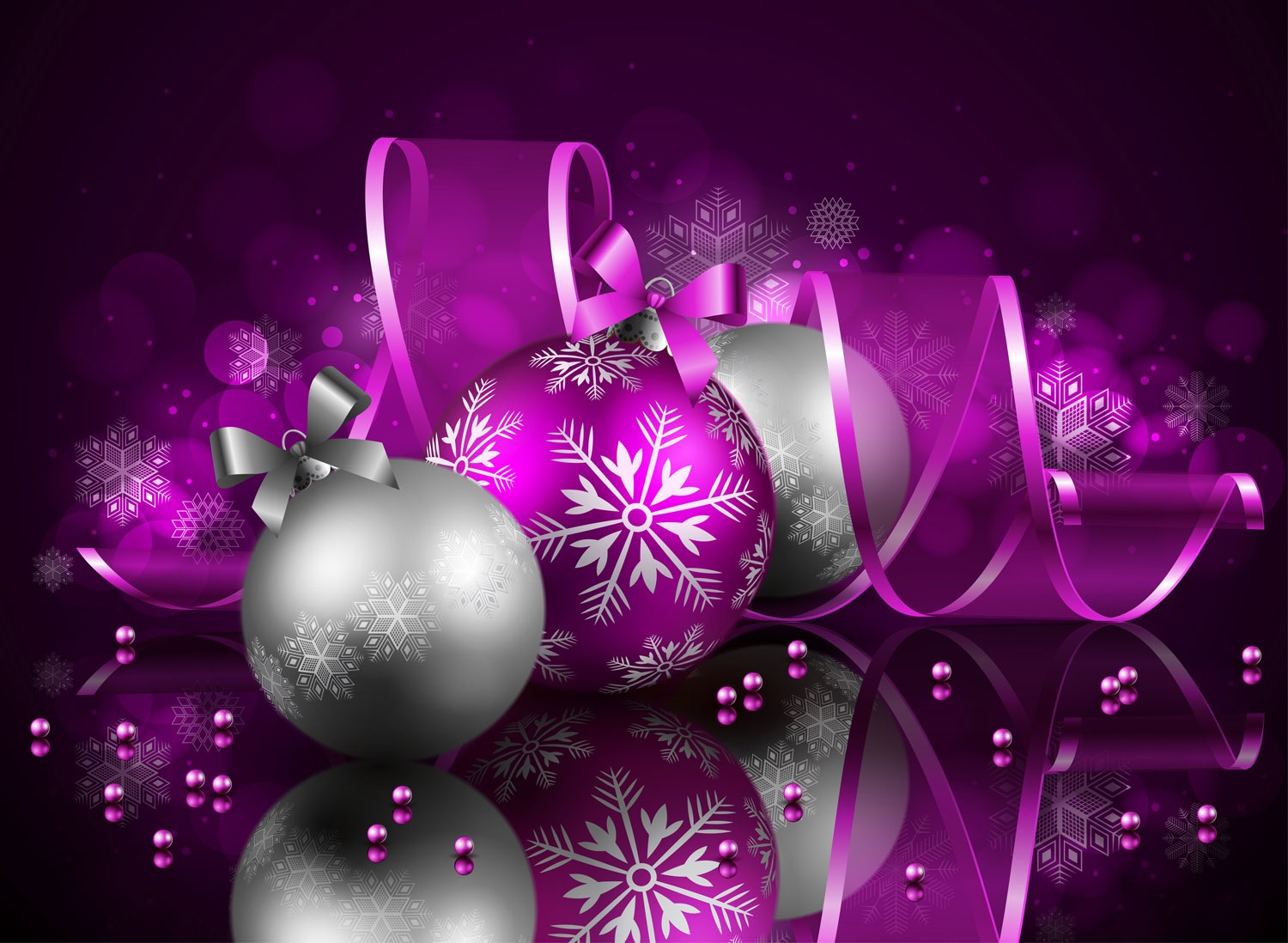christmas-purple-with-reflection