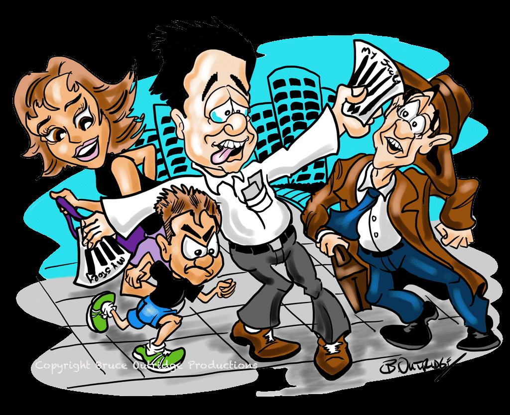 Unique cartoon by Bruce Outridge