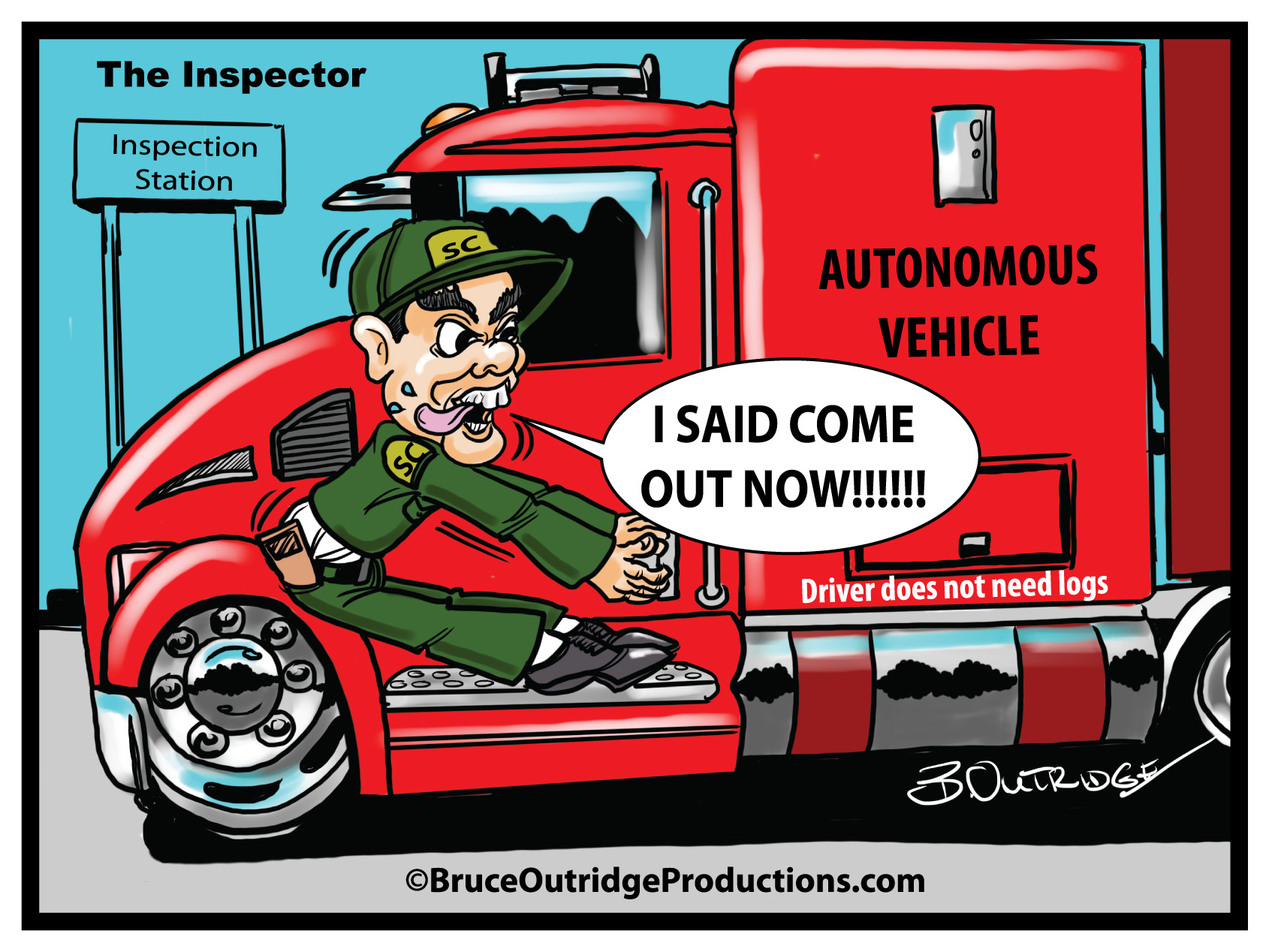 Inspector cartoon by Bruce Outridge