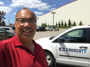 bruce with cogeco van
