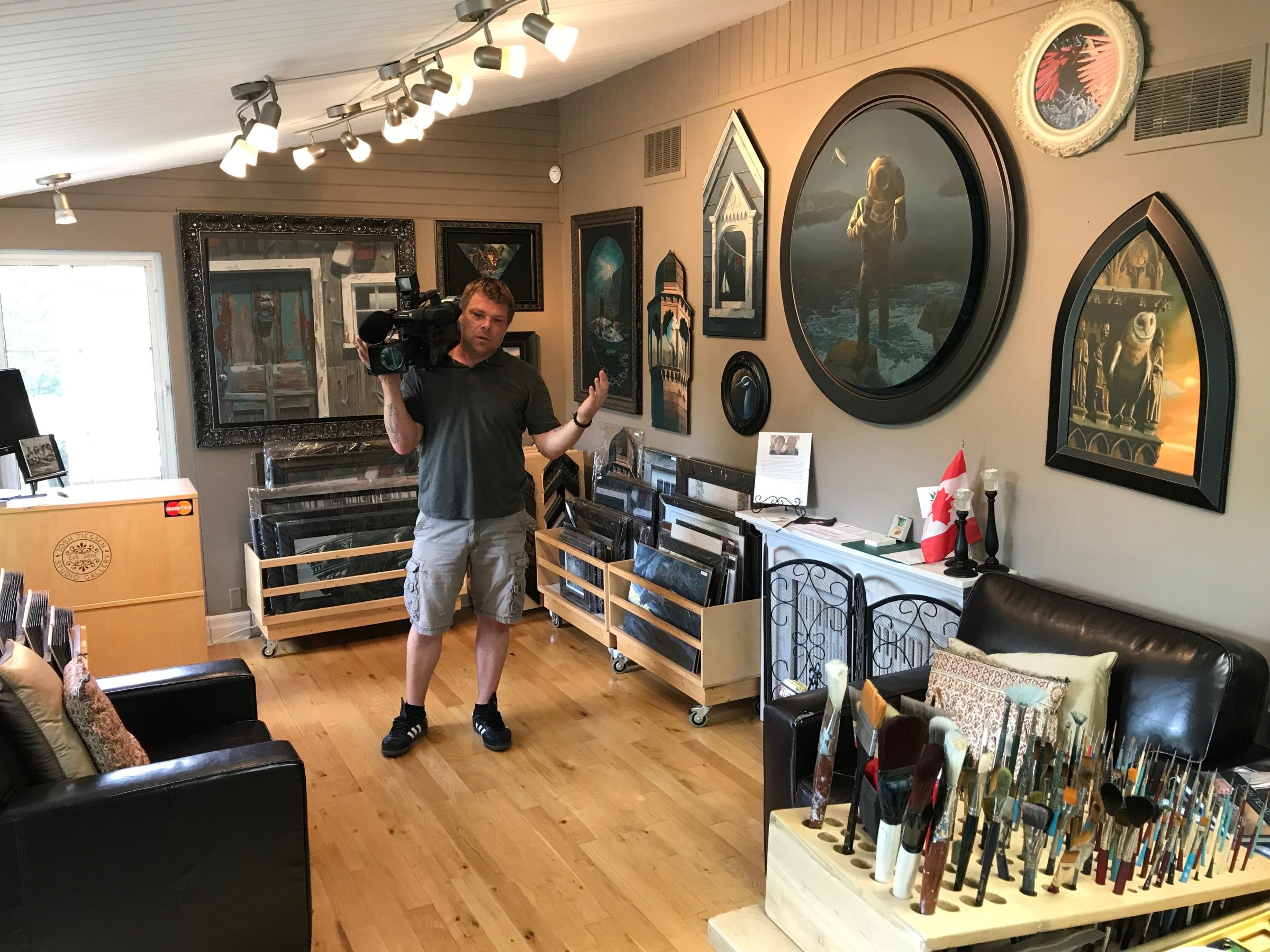 James Filming-Josh Tiessen