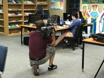 James filming at HIEC