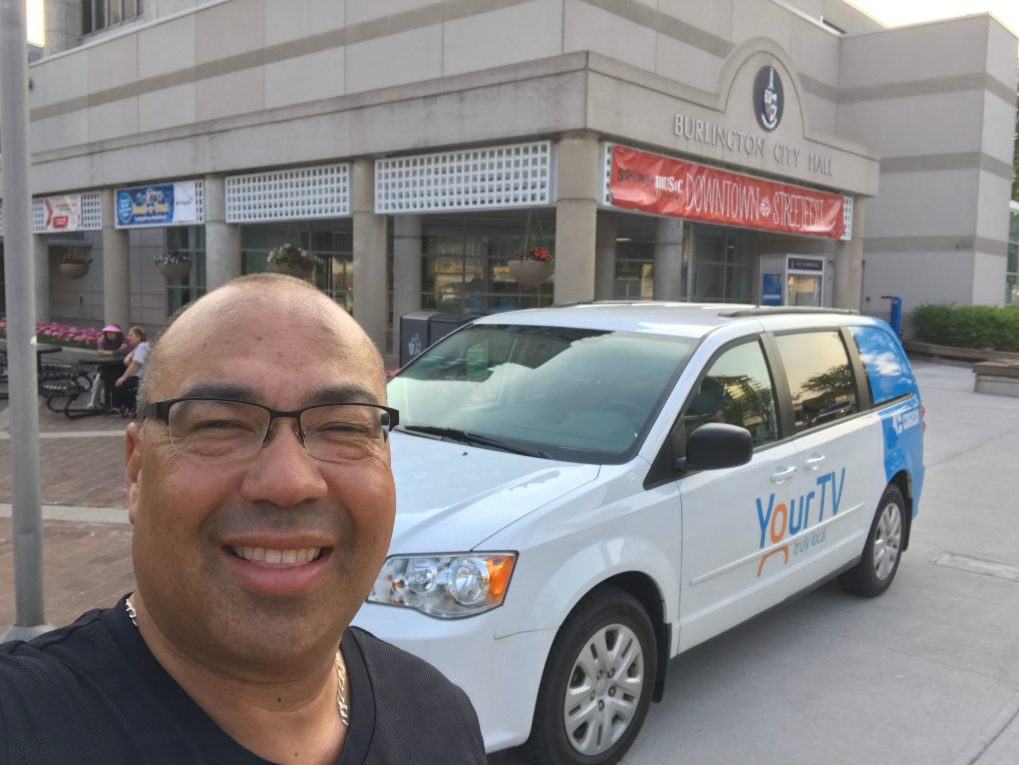 Bruce with the YourTv van