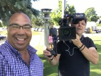 Bruce filming Special Olympics