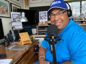 Bruce podcasting