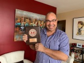 Bruce with plaque from ATS