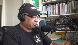 Bruce podcasting LP